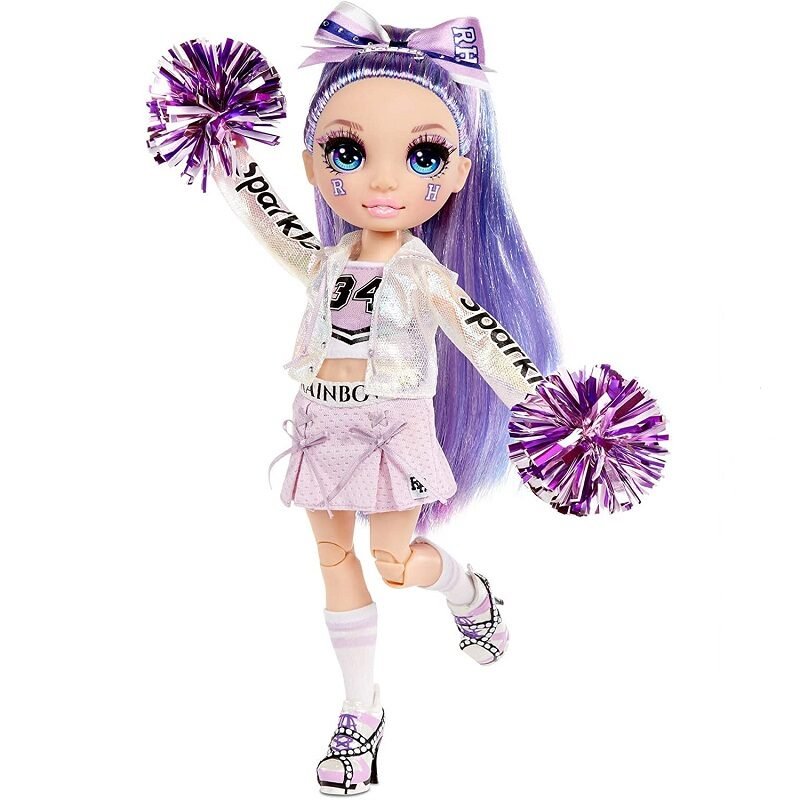MGA 572084 - Rainbow Surprise Cheer Rainbow High Violet Willow – violeta varavīksnes lelle