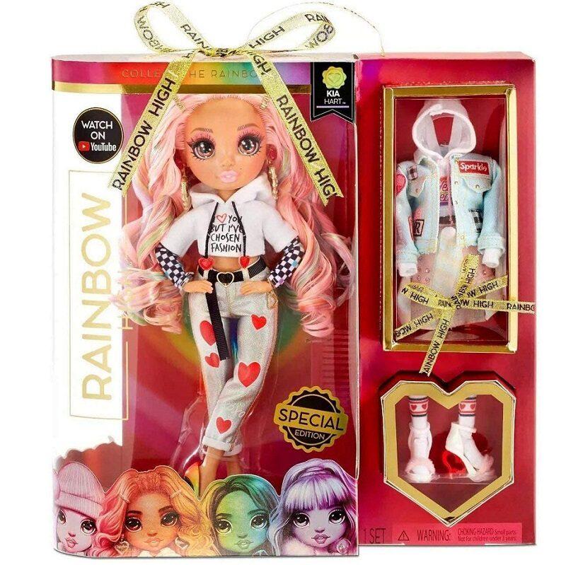 MGA 422792 - Rainbow Surprise Rainbow High Kia Hart – sirsniņas varavīksnes lelle ar 2 kostīmiem