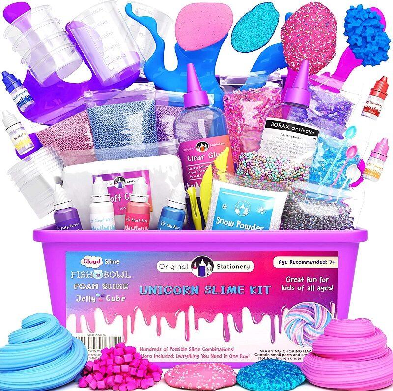 Unicorn DIY Slime Set for Girls - Uztaisi Pats Vienradžu slime Meitenēm