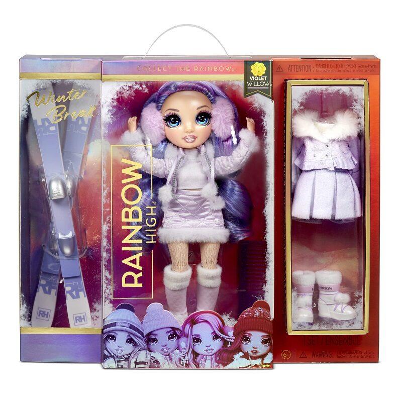 MGA 574804 - Rainbow High Violet Willow Winter Break ziemas lelle