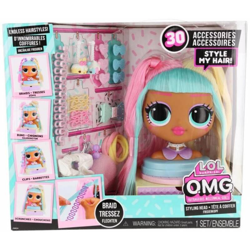 MGA 572008 - L.O.L. Surprise! OMG Candylicious Styling Head galva matu ieveidošanai