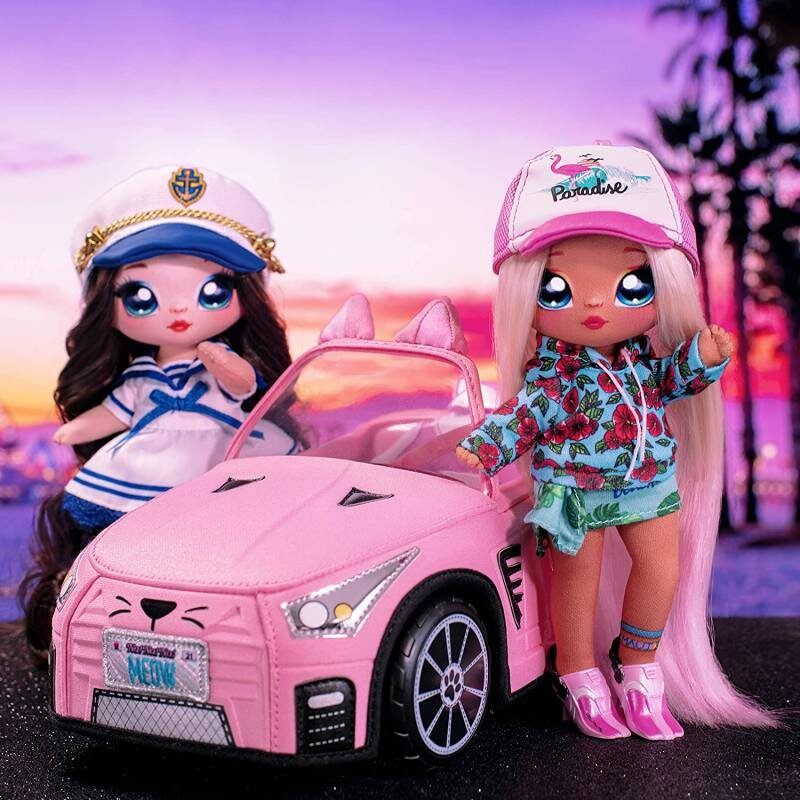 MGA 572411 - Na! Na! Na! Surprise Car Soft Mīkstā mašīna kabriolets