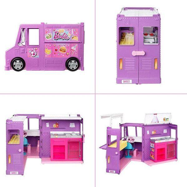 Mattel  GMW07 - Barbie Food Truck, pārtikas kemperis