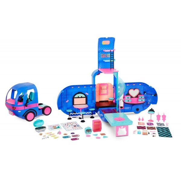 MGA 569459 - L.O.L. Surprise! O.M.G. 4-in-1 Glamper Fashion Camper, 55+ Surprises (Electric Blue) lol kemperis, glemperis