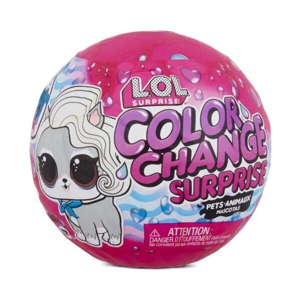 MGA 576334 - LOL Surprise Color Change Pets krāsu mainošs dzīvnieks ar 6 pārsteigumiem lol