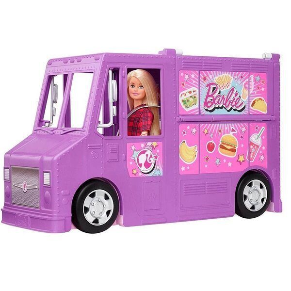 Mattel  GMW07 - Barbie Food Truck, pārtikas kemperis