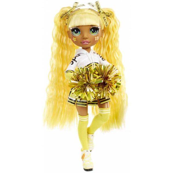 MGA 572053 - Rainbow Surprise Cheer Rainbow High Sunny Madison – dzeltena varavīksnes lelle